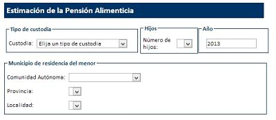 Calculo pension alimenticia